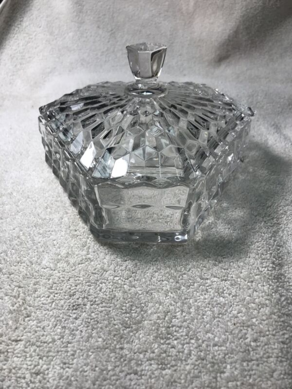 Fostoria AMERICAN CLEAR 3 Part Candy Dish 143930