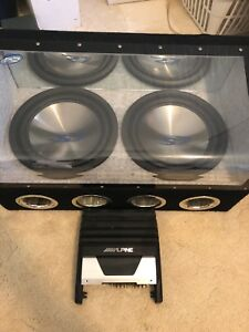 Alpine subs and amp.
