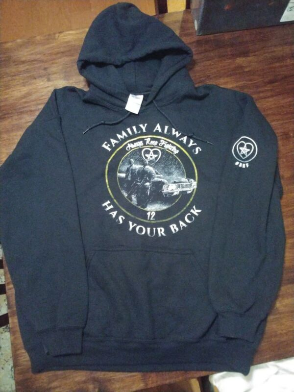 Represent campaign SUPERNATURAL SWEATSHIRT AKF SPN Family Sz Large NEW w tags