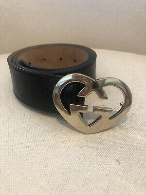 Gucci Double Insignia Heart Belt Small