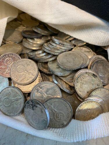 Historic: 2 Mark Nazi Germany Silver WW2 Third Reich Coin World War 2 1933-1945