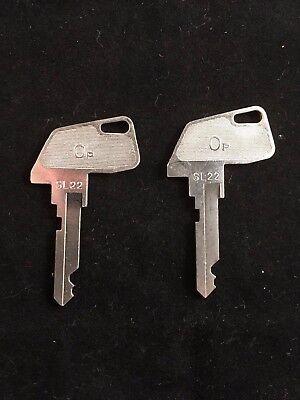 Tec Cash Register Op Key Sl22 Set Of 2