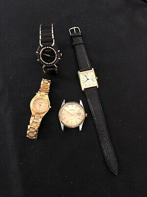 GENEVA WATCHES Lot Of 2 Men's 2 Women's See Pics And Scrip For Details