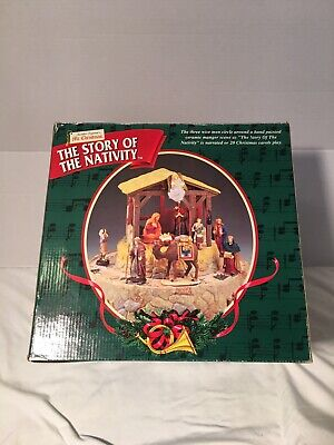 Mr. Christmas THE STORY OF THE NATIVITY Set Animated Musical Narrated Lighted