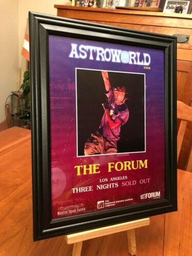"BIG 10x13 FRAMED TRAVIS SCOTT ""LIVE AT THE FORUM - LOS ANGELES"" CONCERT TOUR AD"
