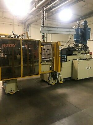 225 Ton Husky G225 Rs5050 Injection Molding Machine Dryer And Loader Included