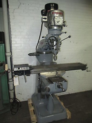 Bridgeport 1-12 Hp Br2j Ram Type Turret Milling Machine - Power Feed Table