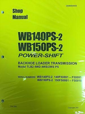 Komatsu Service Wb140ps-2 Wb150ps-2 Backhoe Manual