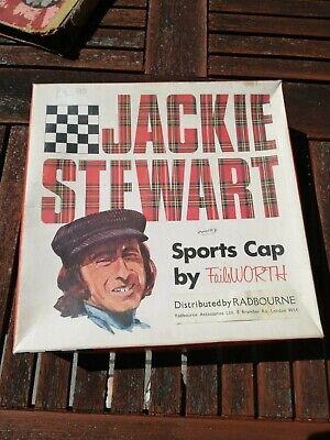 Vintage Retro 1970s Jackie Stewart Racing Driver Cap Box Decorator's Item Kitsch
