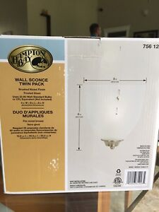 Wall sconces with brushed nickel finish