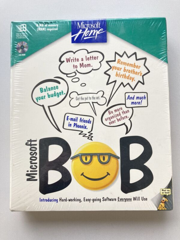 Microsoft Bob NEW in Factory Sealed Box - Comes with Bob Stickers!