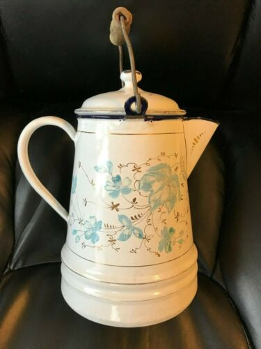 Antique Enameled Coffee Pot