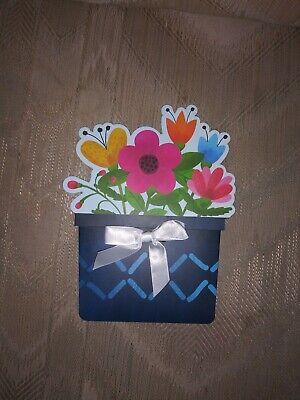 ift Card Holder Flower Pot Flowers Spring Birthday 2019... (Mothers Day Flower Pot)