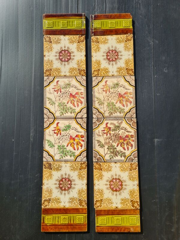 Set of Antique Fireplace Tiles, early 1900s AE7