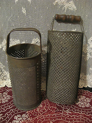 Vintage Cheese Graters Round and Half Round Kitchen Utensils