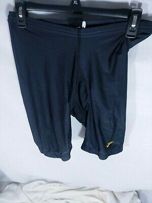 Vintage Nike Mens Echelon Cycling Shorts Size Large Black Padded Spandex USA