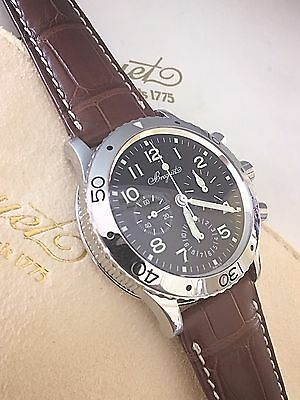 Men's Stainless Breguet Type XX Aeronavale Chronograph ref.3800 ~ 39mm