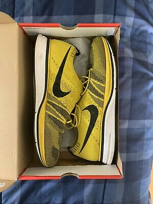 Nike Flyknit Trainer Yellow/White/Black- Size 15 Running Shoes