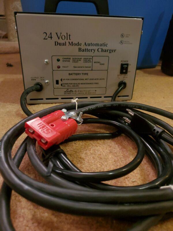 lester 24 volt battery charger