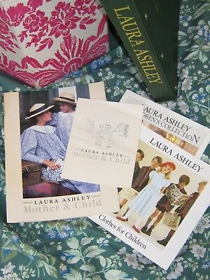 LAURA ASHLEY VINTAGE RARE 80s MOTHER&CHILD FASHION CATALOGUE, LEAFLETS & BOOKLET