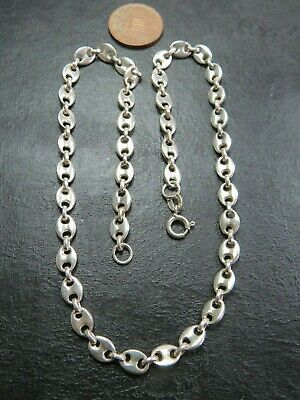 VINTAGE 800 SILVER GUCCI or ANCHOR LINK NECKLACE CHAIN 16 inch C.1990
