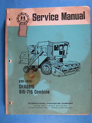 International Ih Gss-1430 615 715 Combine 1972 Service Manual