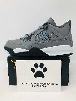 Nike Air Jordan 4 Retro 'Cool Grey' BQ7669-007 PS Size 1Y