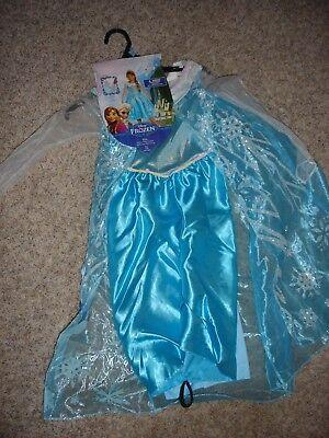 Disney Frozen Elsa of Arendelle dress costume Tiara & Gloves (S) 4-6x Halloween (Halloween Costumes Of Elsa)