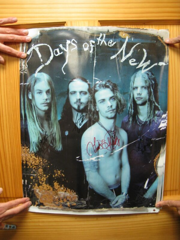 Days Of The New Poster Band Shot Signed By Band