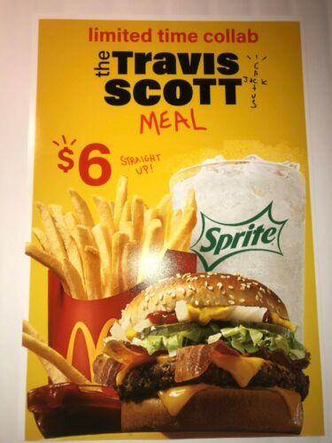 Travis Scott Mcdonalds Cactus Jack Promo Poster