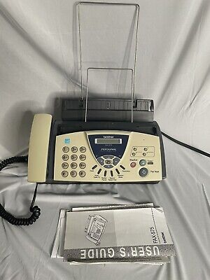 Brother Fax-575 Fax Phone And Copier Machine-display Screen Is Dim