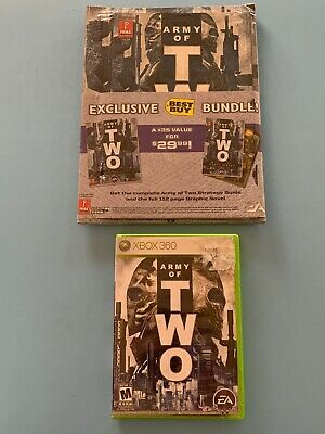Army of Two Xbox 360 Good Shape + Strategy Guide/Graphic Novel Sealed Best Buy