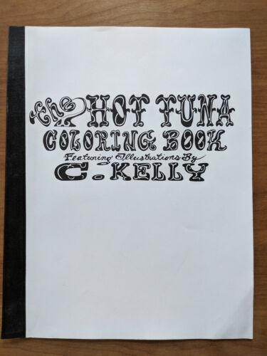 Rare 1990 HOT TUNA COLORING BOOK - C. Kelly Art Jefferson Airplane Starship