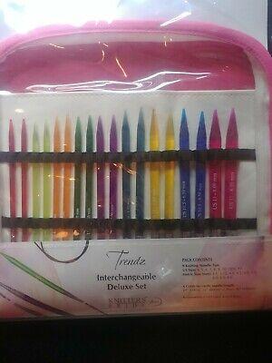 Trendz Acrylic Interchangeable Deluxe Set Knitters Pride Knitting Needles 9 Tips