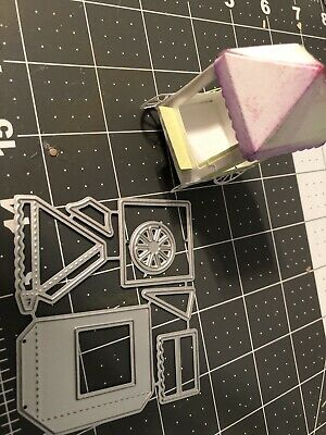 Metal die Flower Push Cart 7pcs Tested DIY scrapbooking,crafts,cards, projects ()
