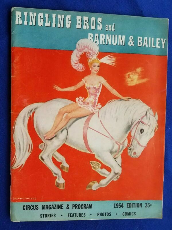 1954 RINGLING BROS AND BARNUM AND BAILEY CIRCUS MAGAZINE GREAT COLOR ADS EXC+++
