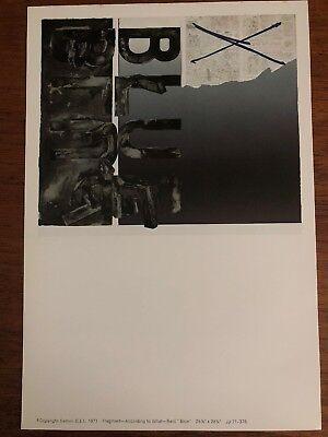 "Jasper Johns Fragment According To What ""Blue"" vintage 1971 Gemini G.E.L."