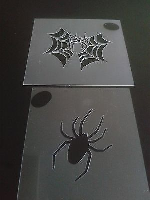 Spider & spider in web face painting stencils   reusable many times Halloween - Face Painting Spider Halloween