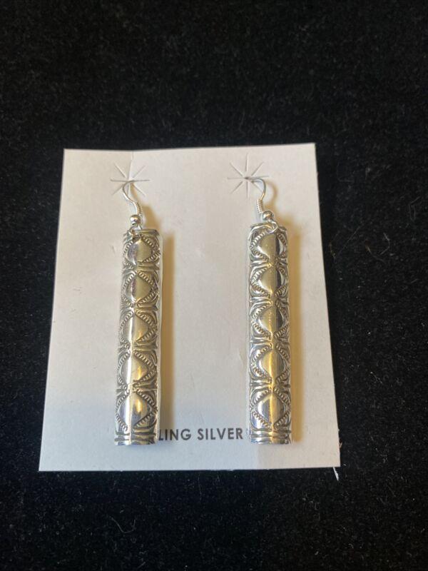 Navajo Sterling Long Dangle Earrings