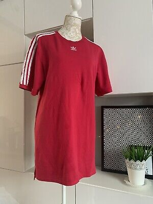 Adidas Red/raspberry Colour Dress Size 14 Uk