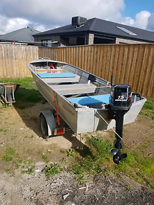 Tinny 3.7 meter 15 hp mercury..Swap or sale Epping Whittlesea Area Preview