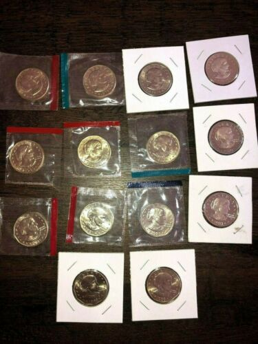 1979 1980 1981 1999 P+D+S+S Complete Susan B Anthony Dollars BU Mint+ Proof Set