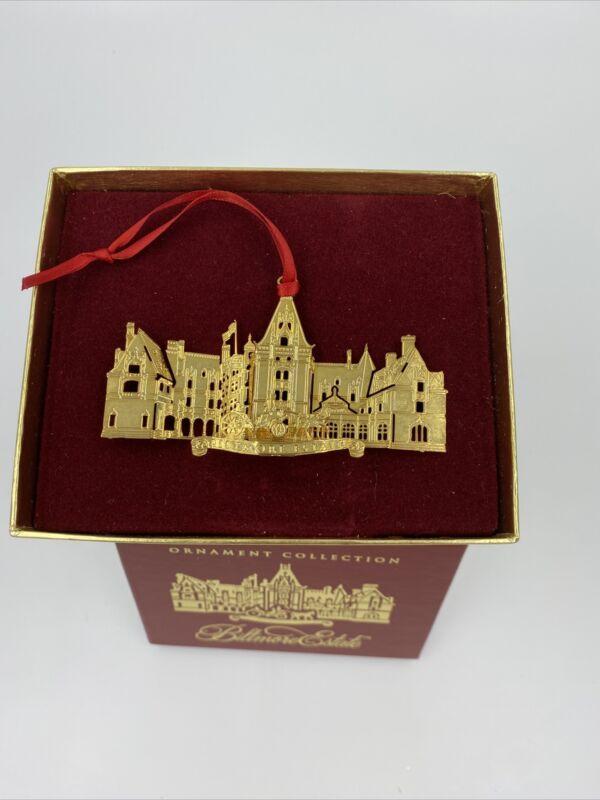 Vintage Biltmore Estate Christmas Ornament Collection 24K Gold Finish