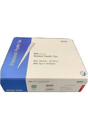 Mettler Toledo Rt-l10 Rainin Bioclean Racked Pipette Tips 1020 Ul 960 Tips