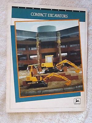 1991 John Deere 15 25 Compact Excavators 12 Page Brochure