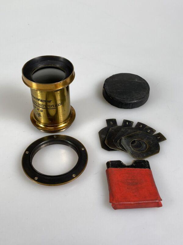 gundlach optical rochester brass lens 8x10 with waterhouse stops