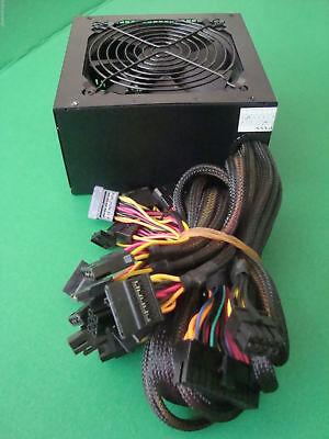 NEW 750W 700W 700 Watt LARGE QUIET FAN GRILL ATX Power Supply PCI-E SATA PSU  (700 Watt Power Supply)