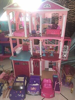 Barbie Dream House Toy House 3 Story Plus Lots Of Extras Barbie Dolls And Cars