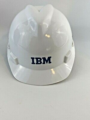 Ibm Hard Hat Plastic Msa Ansi Z89.1 2003 White Size Medium V Guard