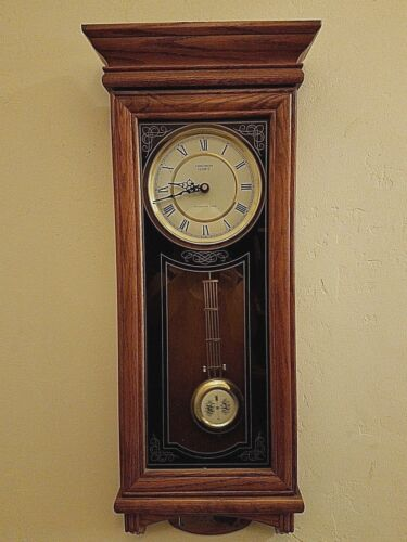 """Verichron Quartz Wall Clock With Westminster Chime, 31"""" x 13"""" x 5"""""""
